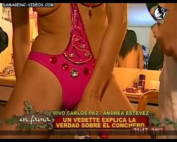 Andrea Estevez pussy close up in thong